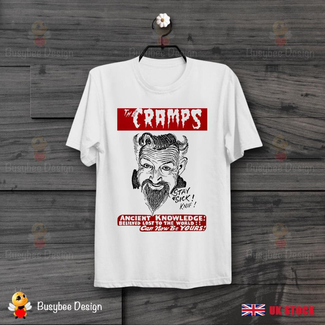 Authentic THE CRAMPS Smell of Female Slim-Fit T-Shirt White S-2XL NEW