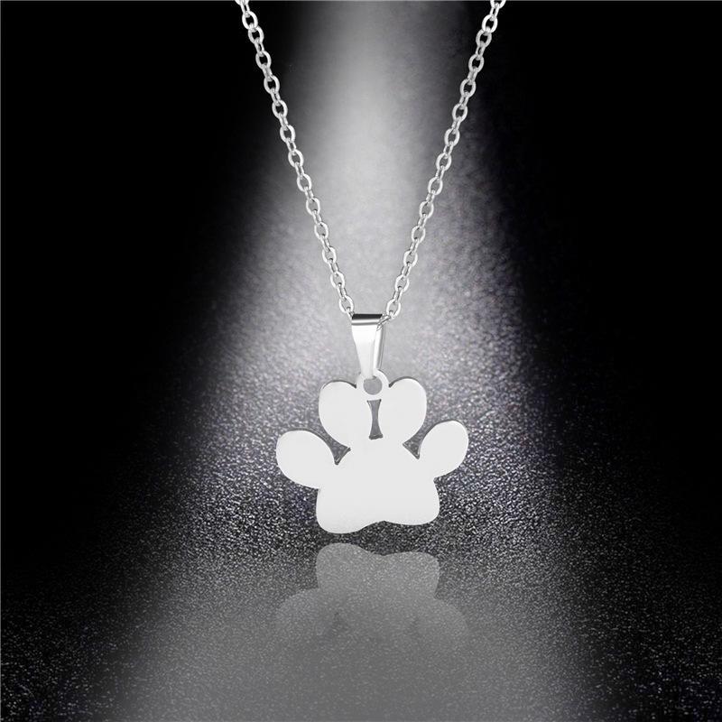 Bijoux en acier inoxydable Minimaliste Le pendentif de chien Collier Simple Collier de chien Kpop choker partie haute qualité de cadeau