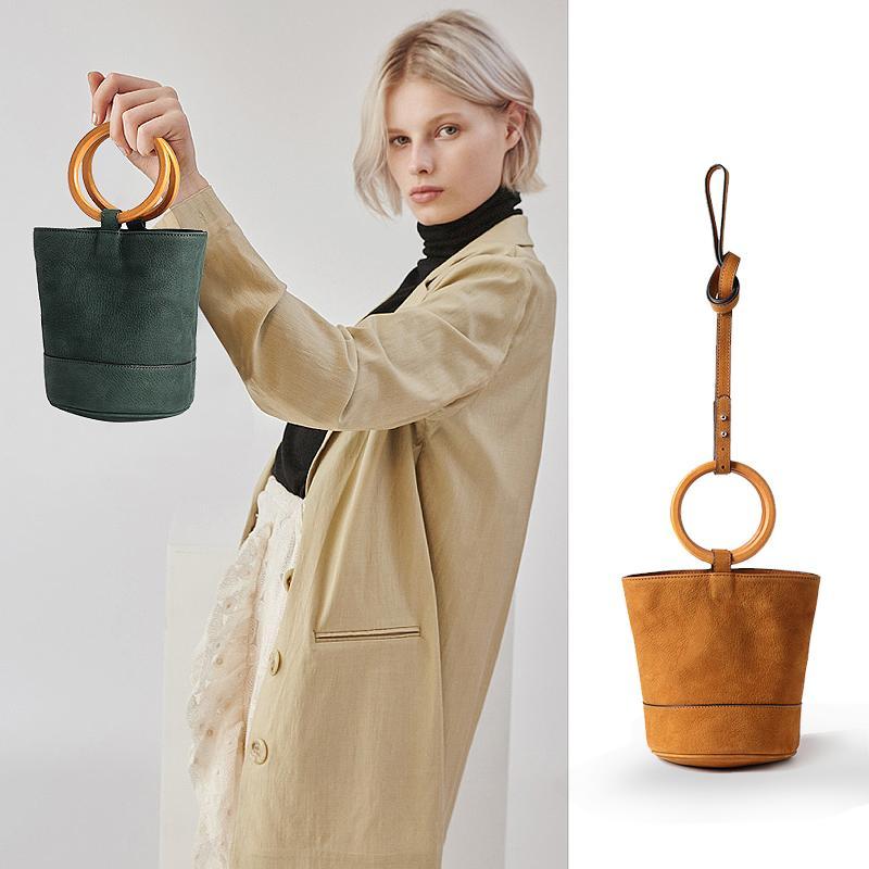 staud tote bags bonsai Bag Female fashion genuine leather Moreau Bags For Women Bucket Bag Handbags Designer Scrub Daily Sac brand new