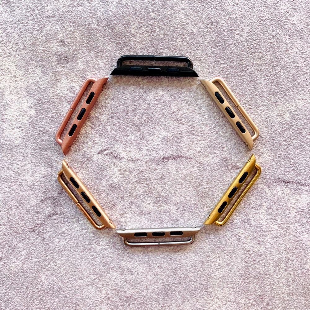 10pcs adaptador de bricolaje para el reemplazo banda de reloj de Apple Adaptador 38mm 40mm 42mm 44mm pulsera de cinta para la iWatch conector 1 2 3 4 5