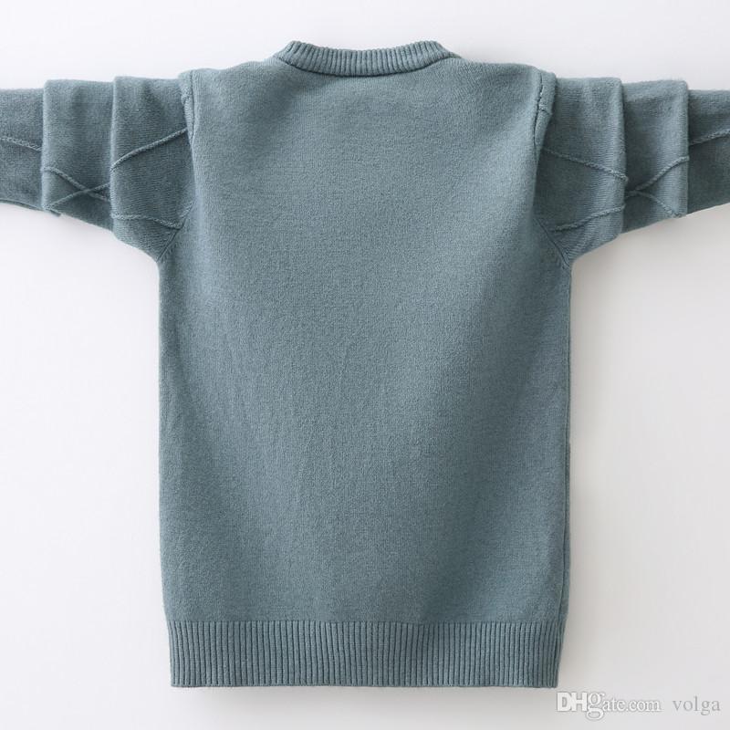 أطفال بنين سترة الخريف الشتاء محبوك القطن طفل الملابس الاطفال سترة صوفية كنزة للبنين 3-12 سنوات خارجية معطف