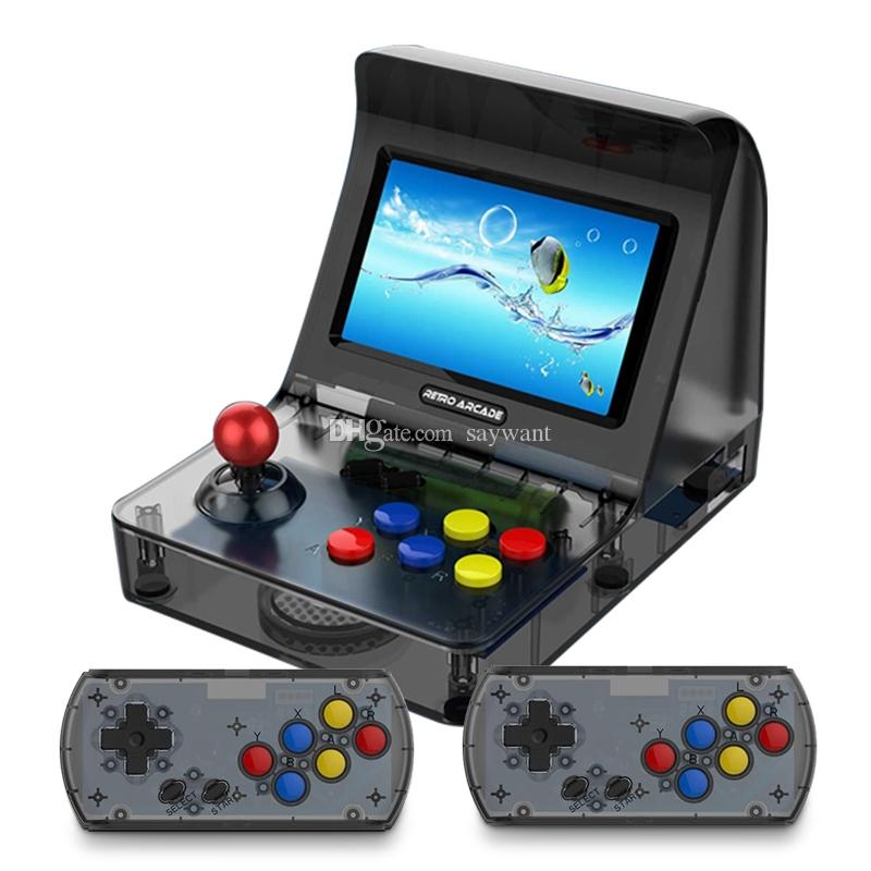 Retro Arcade Console di gioco portatile portatile da 16 GB da 4,3 pollici a 64 bit in grado di memorizzare 3000 giochi Famiglia Gaming Machine A8 Controllo gamepad AV Out