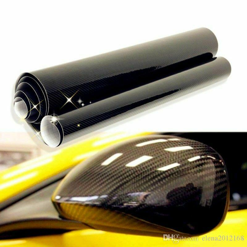 10x152cm 5D haut brillant en fibre de carbone vinyle Film Car Styling Wrap Motorcycle Car Styling Accessoires intérieurs en fibre de carbone Film