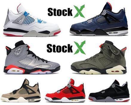 4 4s Мужчины баскетбол обувь то, что Jumpman 6 6s грибов разводили ФИБА утепленных Royal Blue черные инфракрасные мужские кроссовки обувь 40-47