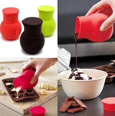 Bakeware Tools Soft Silicone Chocolate Melting Pot Melt Butter Heat Milk Sauce Microwave Baking Pot Kitchen Baking Supplies Garlic Kitchen Gadgets