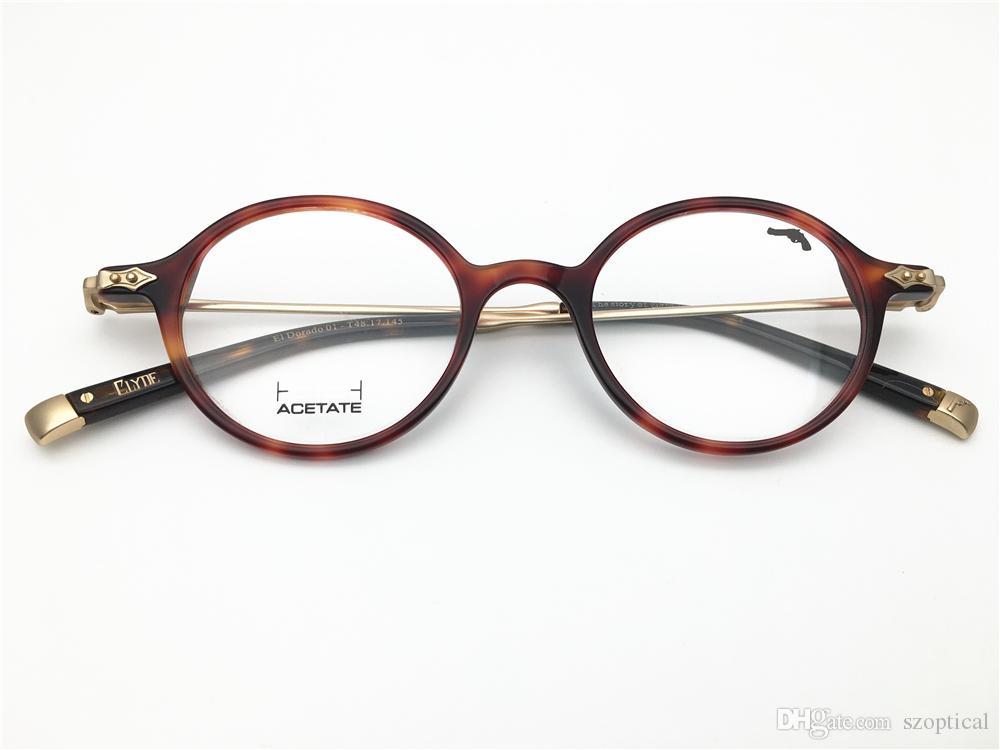 9e26ca6f3bae2 A história de clyde desgin alta boa qualidade homens aro completo acetato  armação de óculos Miopia ...