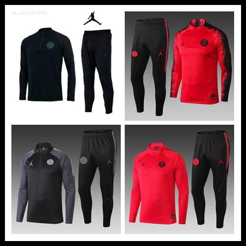 18/19/20 Jordam Paris FFF SURVETEMENT MAILLOT DE FOOT Barcelona France Portugal SURVEMENT FOOTBALL 2 STAR MBAPPE Track Suits Training Suits