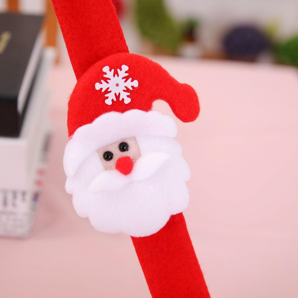 / lot dei bambini 24pcs Babbo Natale Decorazione Bracciale Regali di Capodanno Palla dell'albero di Natale ragazzino braccialetto creativo flessibile Wristband