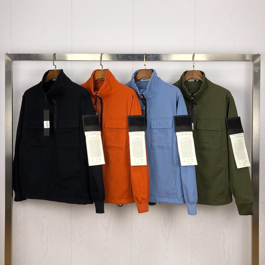Topstoney 2020SS الربيع والخريف الأوروبية والأميركية على غرار نصف سحاب konng غونغ سترة عادية مع معطف الاتجاه العصرية العلامة التجارية