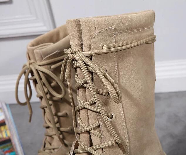 botas de los hombres calientes de la venta-arenoso de la rutina inferior medios cargadores de los cargadores de Martin gruesos cordones de los zapatos de los hombres 38-46