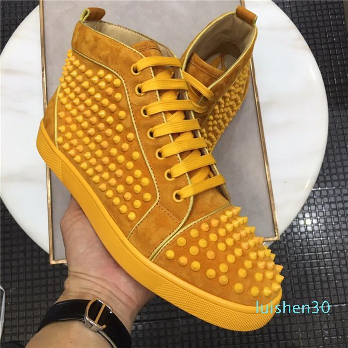 Designer de luxo Mens Mulheres Studded Pico Casual sapatos de plataforma Red sola inferior camurça Graffiti de Spike Shoes instrutor Sneakers Chaussure