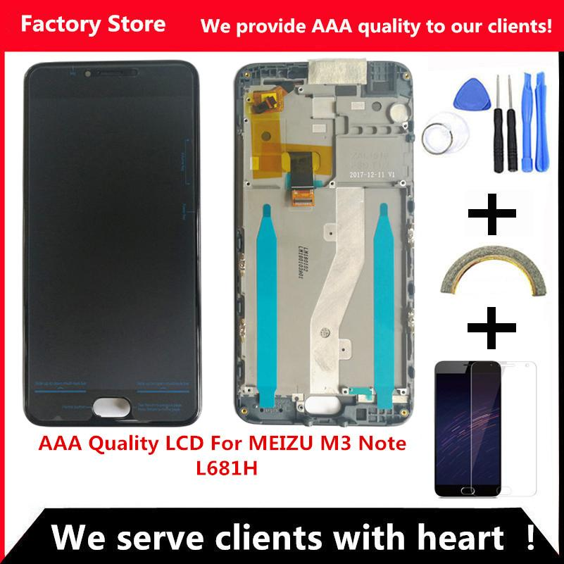 Quality LCD+Frame For MEIZU M3 Note L681H Lcd Display Screen Replacement For MEIZU M3 Note l681H Aseembly