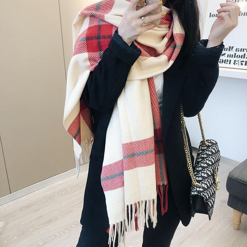 2019 Plaid Winter Scarf Women Warm Foulard Solid Scarves Fashion Casual  Scarfs Cashmere Bufandas Hombre Bandanas Infinity Scarf From  Yichubagfashionstore, $12.74| DHgate.Com