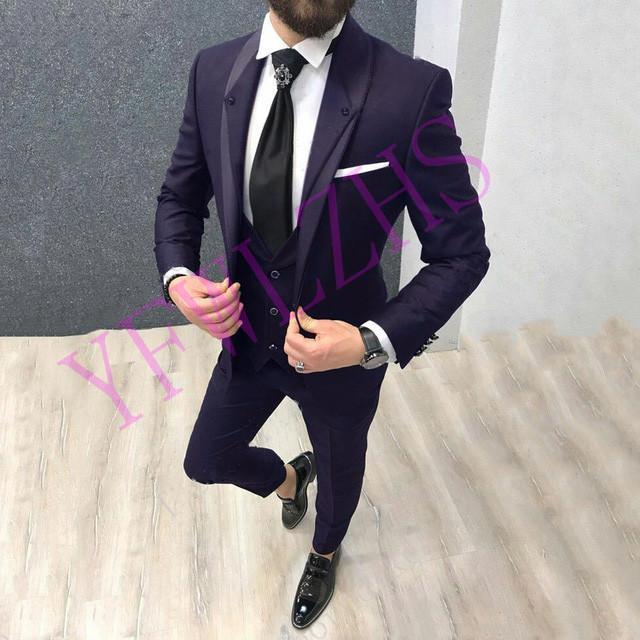 Xiatian8 الدعاوى الرجال الحلل سيم العريس الشاح التلبيب العريس البدلات الرسمية رجل فستان الزفاف رجل سترة السترة حفلة موسيقية العشاء (سترة + سروال + ر