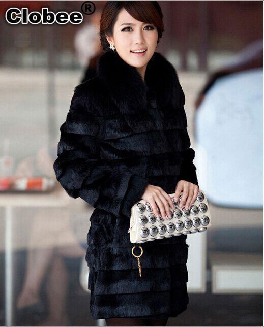 Pelliccia donna Plus Size Fur Coat per le donne 2020 Casaco Feminino Pele Falsa inverno Fluffy Fur Collar Giacche X672