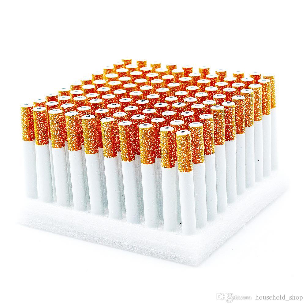 Keramik Zigarette Hitters Sparkle Metall Aluminium Rauchtabakpfeifen Herb One Hitter Bat-Pfeife Zigarette Rohr A02