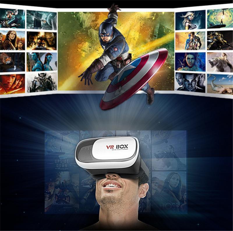 VR Box 2.0 Google Glasses Gamepad Virtual Reality Lunettes 3D Casque VR BOX Casque 3D VR Lunettes pour Smartphone avec Forfait détail