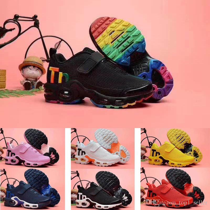 2020 TN Plus KPU magic button air Cushion Trainer Детские кроссовки мальчик девочка молодой ребенок спортивные кроссовки размер 28-35
