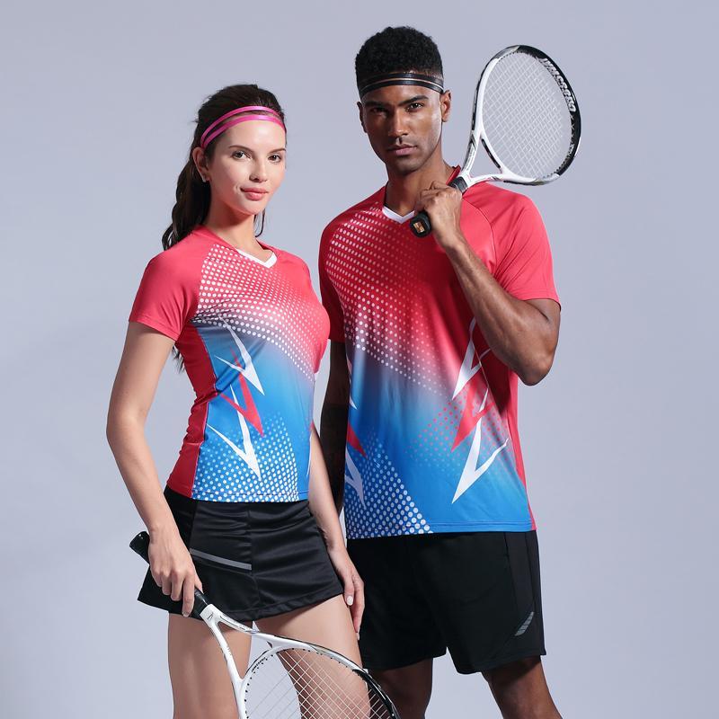 Homens Tennis Set Padel shirt Badminton Set Esporte shirt de funcionamento Quick Dry respirável Ténis de mesa feminino Treinamento jersey