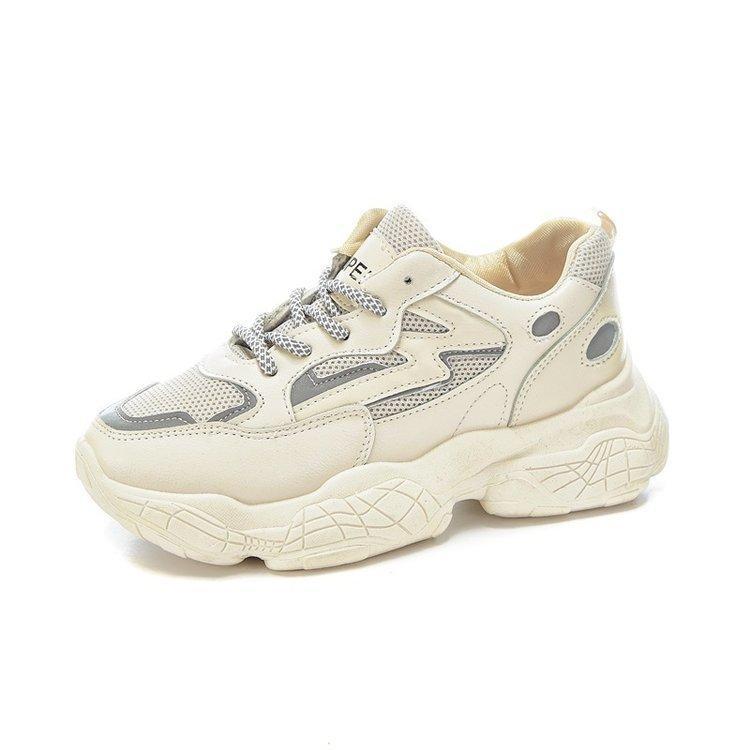 Chaussures de sport de vent Parkside femmes fond épais Augmentation résistant à l'usure Mode casual papa 2020 Chaussures Femme Printemps Taille 35-40