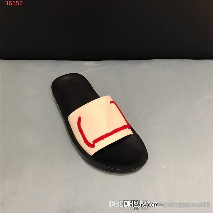 Los hombres del bordado de superficie lisa zapatillas sandalias de verano, Honolulu mula-Slip con suela de goma y deportivo correas con caja de size38-45cm