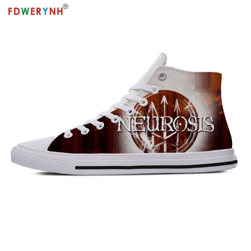Nevroz Sokak Erkekler Yürüyüş Ayakkabı Beyaz Özelleştirilmiş Baskılı Yüksek üst Tuval Nefes Ayakkabı Casual Dantel-up