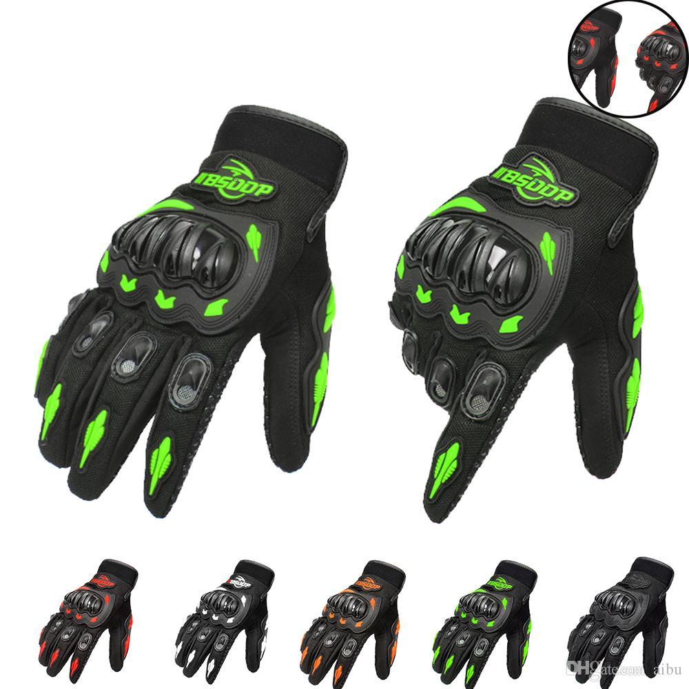 Para a moda luvas de dedo cheio de motocross luvas guantes verde orange moto engrenagens de proteção luva para homens frete grátis