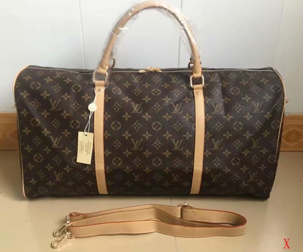 2020 uomini duffle donne borsa da viaggio bagagli borse del sacchetto di mano di lusso di viaggio progettista degli uomini dell'unità di elaborazione di borse in pelle di grandi dimensioni sacco per cadaveri trasversale borsoni 54 centimetri ## 106