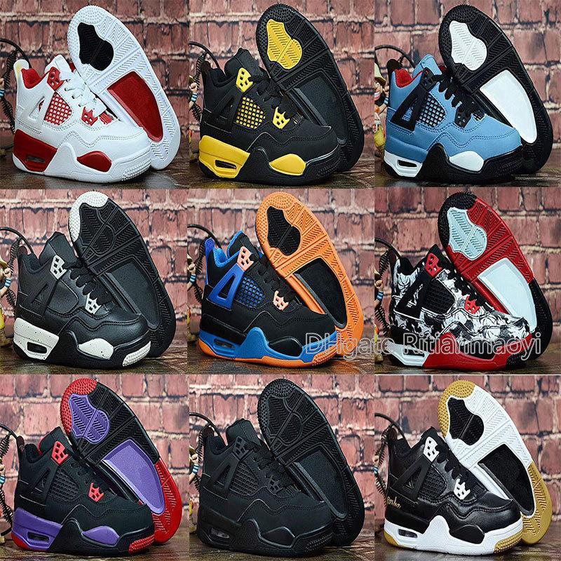 Avec Box 4s Enfants Chaussure De Basket-ball Jeunesse Été En Plein Air Entraîneurs Chaussures De Sport Gym Rouge Garçons Baskets Athlétiques Eur 28-35 Chaussures Enfant
