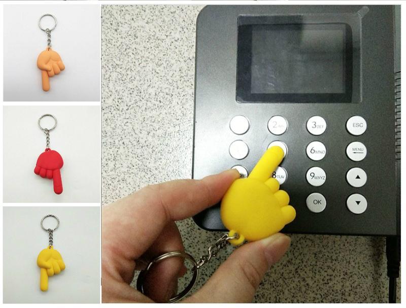 6 색 PVC 전염병 예방 절연 키 체인 보안 보호 안티 접촉 엘리베이터 팜 키 체인 귀여운 열쇠 고리 장식