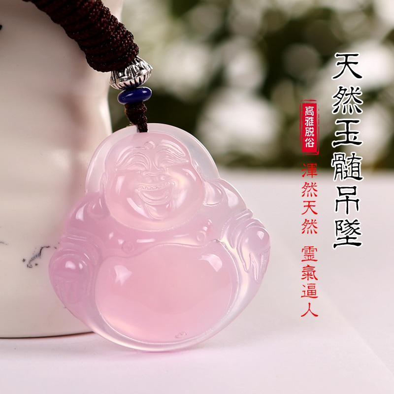 Ciondolo calcedonio naturale Ciondolo Maitreya baby collana per uomo e donna ciondolo Buddha