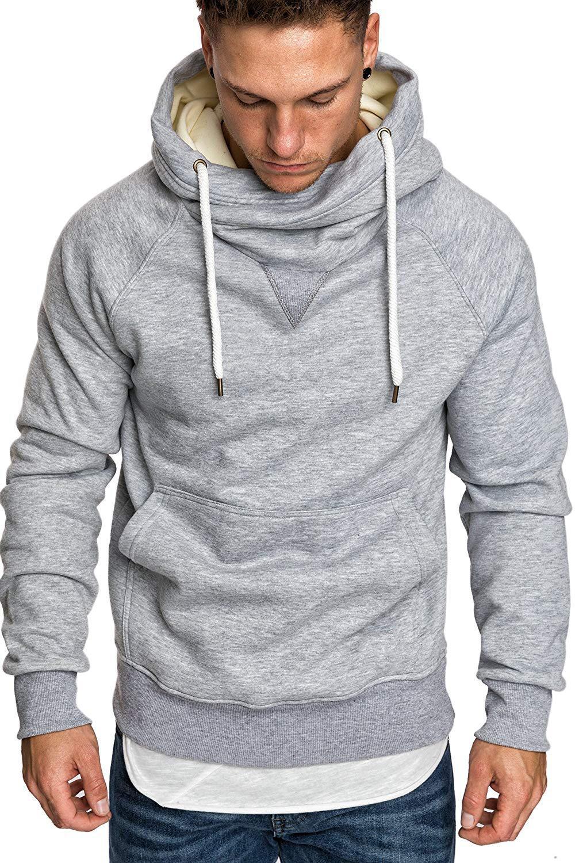 Повседневная Мужская Дизайнерская Толстовка Мода Сплошной Цвет С Длинным Рукавом Свободная Толстовка С Капюшоном Пуловер Базовая Мужская Одежда