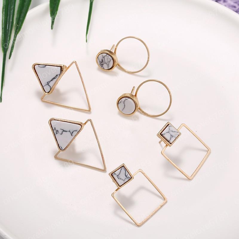 Mujeres Gypsy Círculo Aro Pendientes Simple Pendiente Joyería FG Pequeño Triángulo