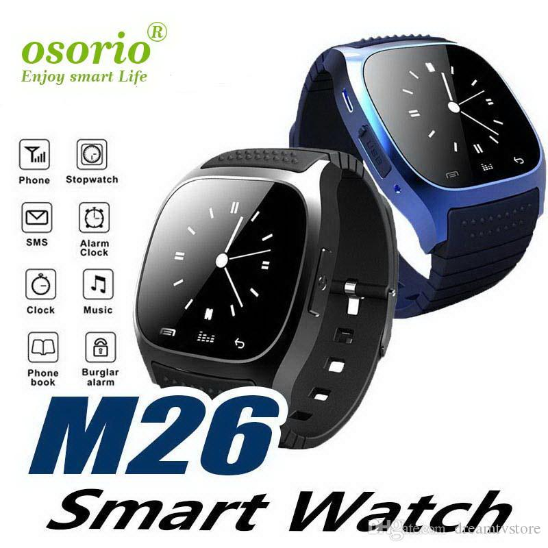 M26 Smart Watch Phone Bracelet Camera Remote Control Anti-lost alarm Barometer V8 A1 U8 Wristband for IOS Android Wireless Bluetooth Watch