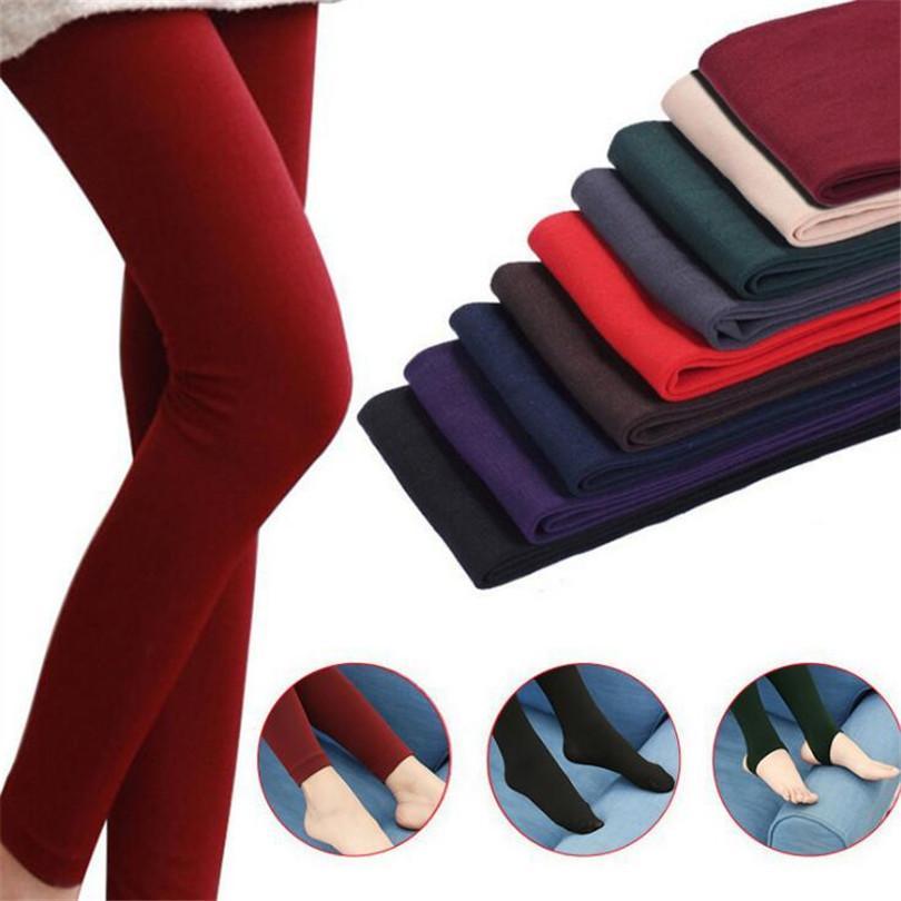 YRRETY 2020 neue Art und Weise beiläufige Warm Faux Velvet Winter-Leggins Frauen-Gamaschen Strick Thick dünne Frauen Legins Frau feste Hosen