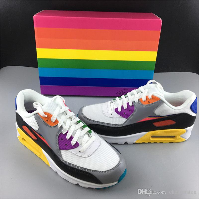 HOT AIR BETRUE Running Shoes 90s Rainbow Kaleidoscope Fashion Unique Designer Original Sport Casual Sneakers Unisex 36-45