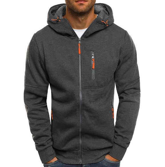 Мужская повседневная толстовка с капюшоном толстовка с капюшоном зимний теплый свитер куртка на молнии пальто толстовка верхняя одежда M-3XL
