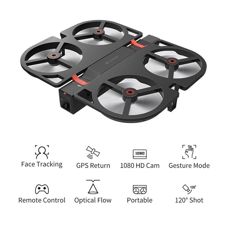 GPS plegable Drone Quadcopter con 1080P HD Cámara plegable Altitude Hold RC Drone