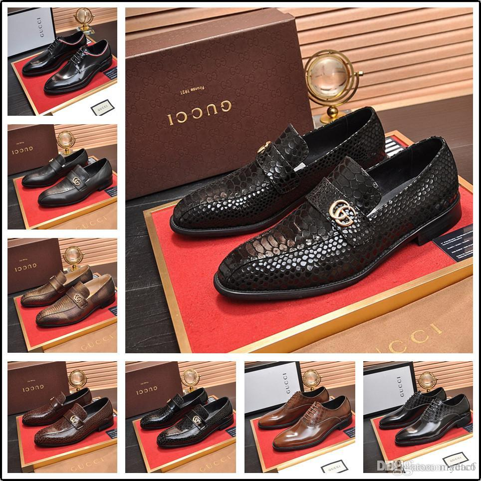 New Business Men/'s Real Leather Dress Formal shoes Lace Up Black or Brown N1921