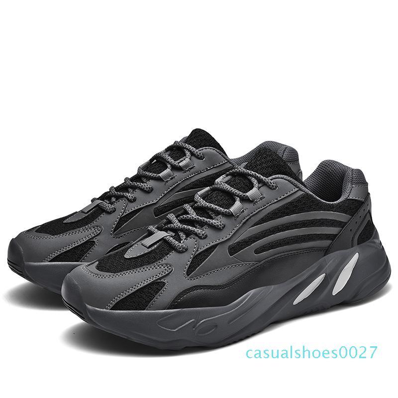 2Luminescent Ayakkabı Kalın Alt Erkekler Moda Trend Platformu Sneakers Büyük Beden Açık Eski Baba Ayakkabı Zapatillas Hombre C27