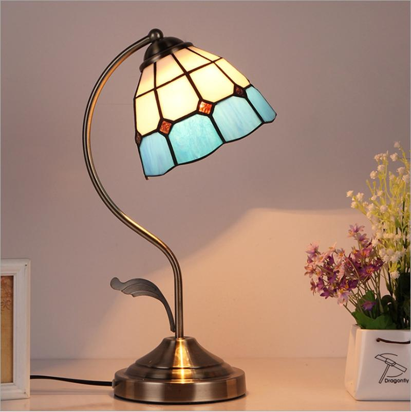 Nuove brevi lampade da tavolo Stile europeo Stile europeo TIFFANY TIFFANY GLASSA BLUSTE BLUSH BLUSH PIASTRA PIASTRA PER LAMPADA DEL PASSEGGIA
