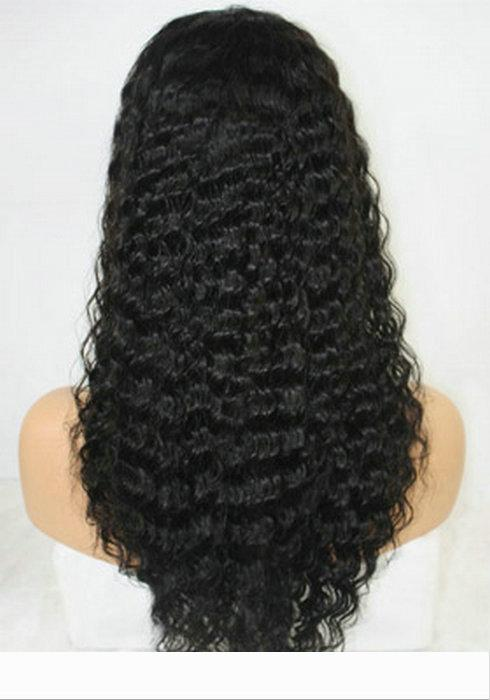 Brazilian Deep Wave Lace Front Wigs 150% Virgin Remy Human Hair Deep Wave Wigs with Baby Hair For Black Women 16 inch