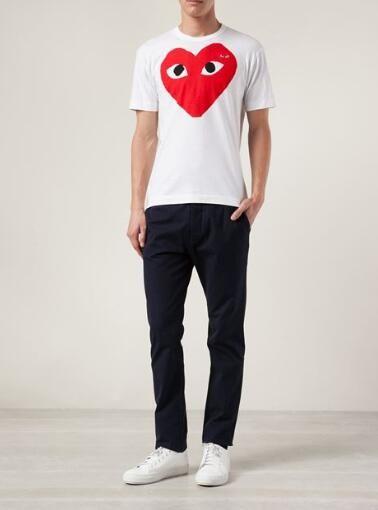 2020 COM Spiel-Qualität Männer Frauen Gery Comme des Garçons Gesamt Griff mens off T-Shirt Weiß Größe M rasche Entscheidung tees