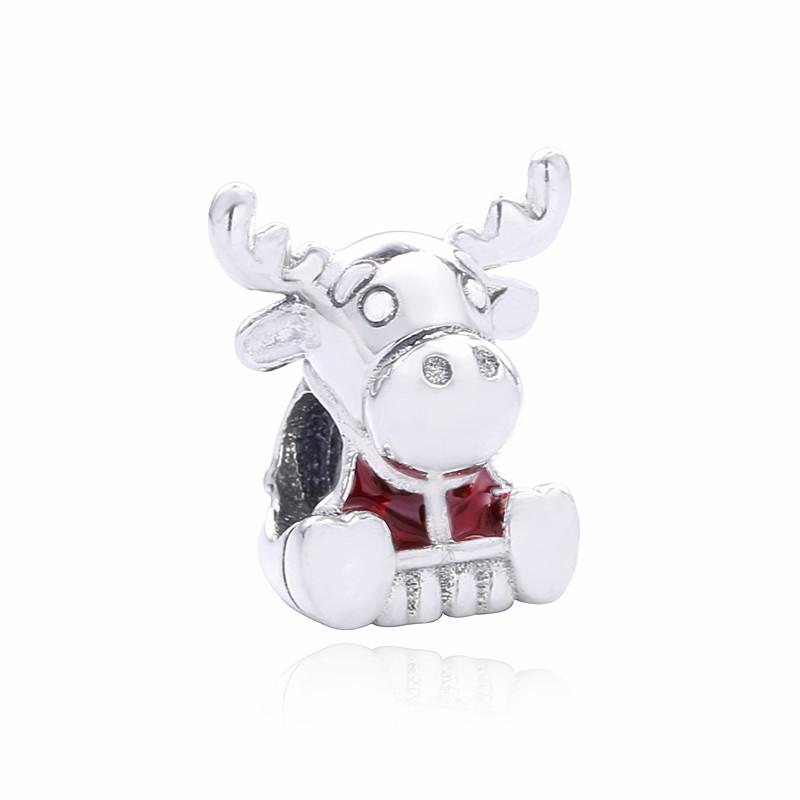 2020 Nouvelle argent 925 Summer Collection Canada Maple Moose Charm Perle Fits Bijoux Europe Pandora Bracelets Charm