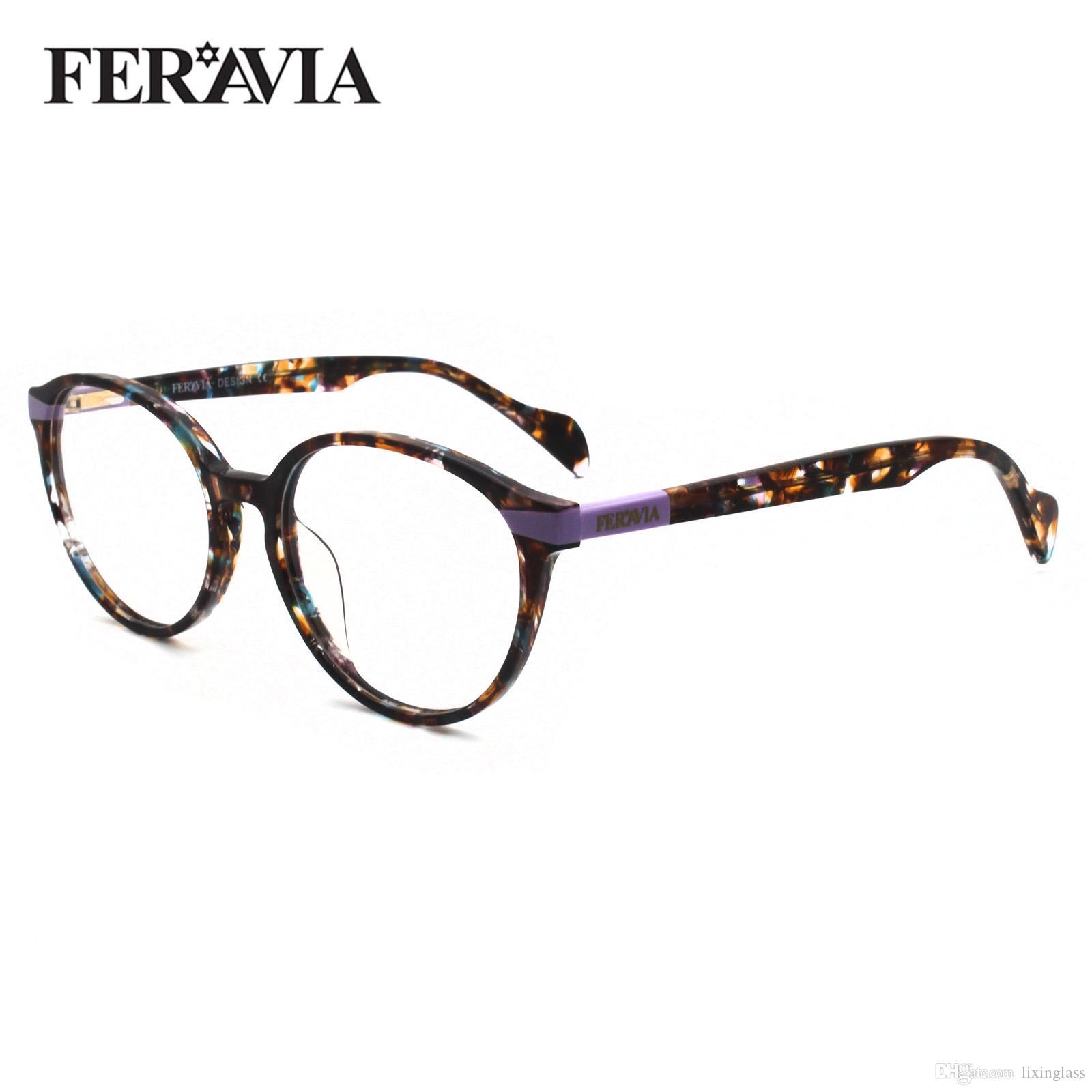 New Classic Round Lady зрелищ Рамки ретро печати очки Рамка Очистить Мода Optical очки кадр очки FVG7137