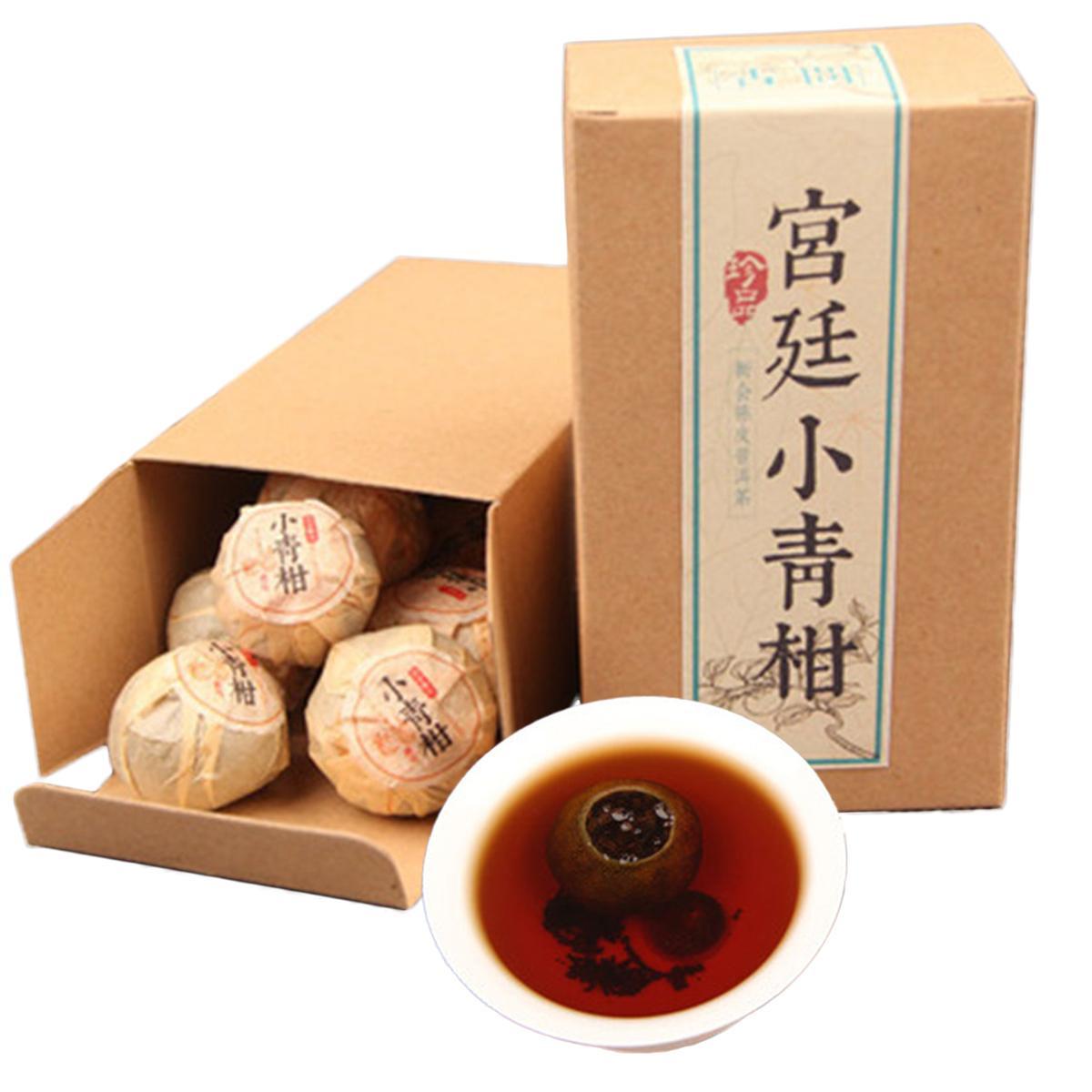 100g Yunnan Ripe Puer Tea Cake Palace Small Green Mandarin Organic Natural Pu-erh Black Tea Old Tree Cooked Puerh Tea Preferred