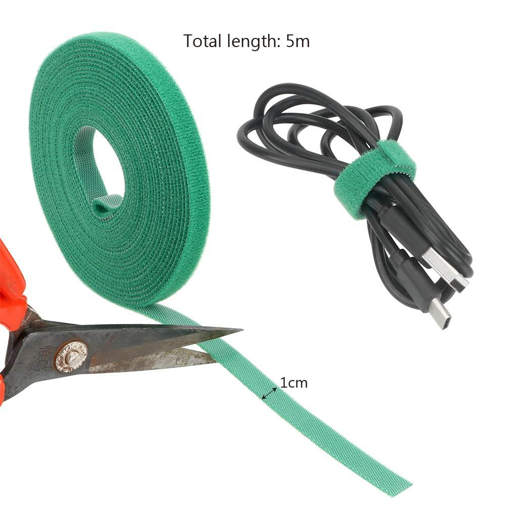 Wiring Accessories Cable Ties 5m*1cm Nylon Cable Ties Multifunction Fastener Reusable Magic Tape Nylon Straps Power Wire Loop Tape