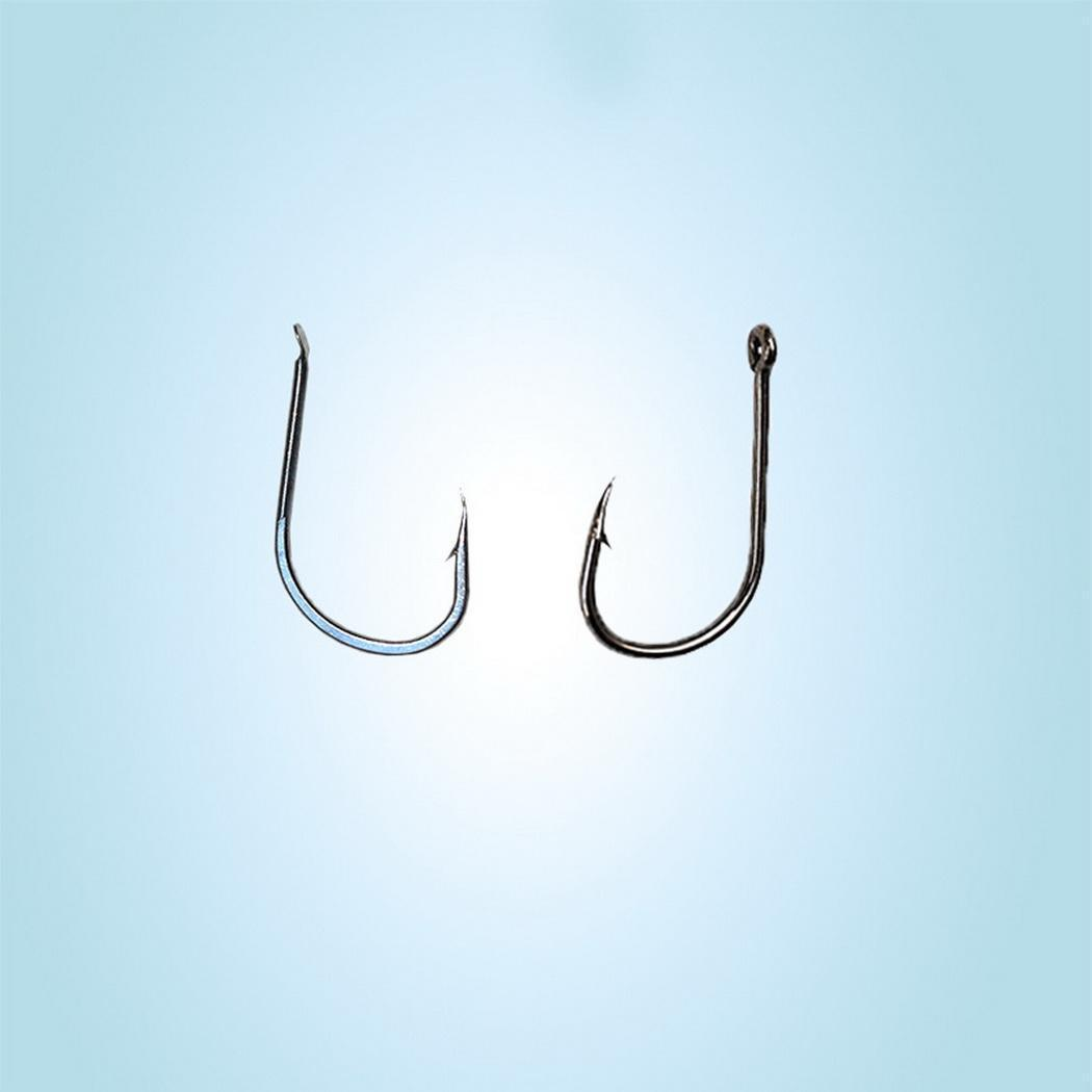 New Fashion Fishing Hook Carbon Steel Ring Barbed Bait Holder Fish Hook Accessory Fashion Hooks