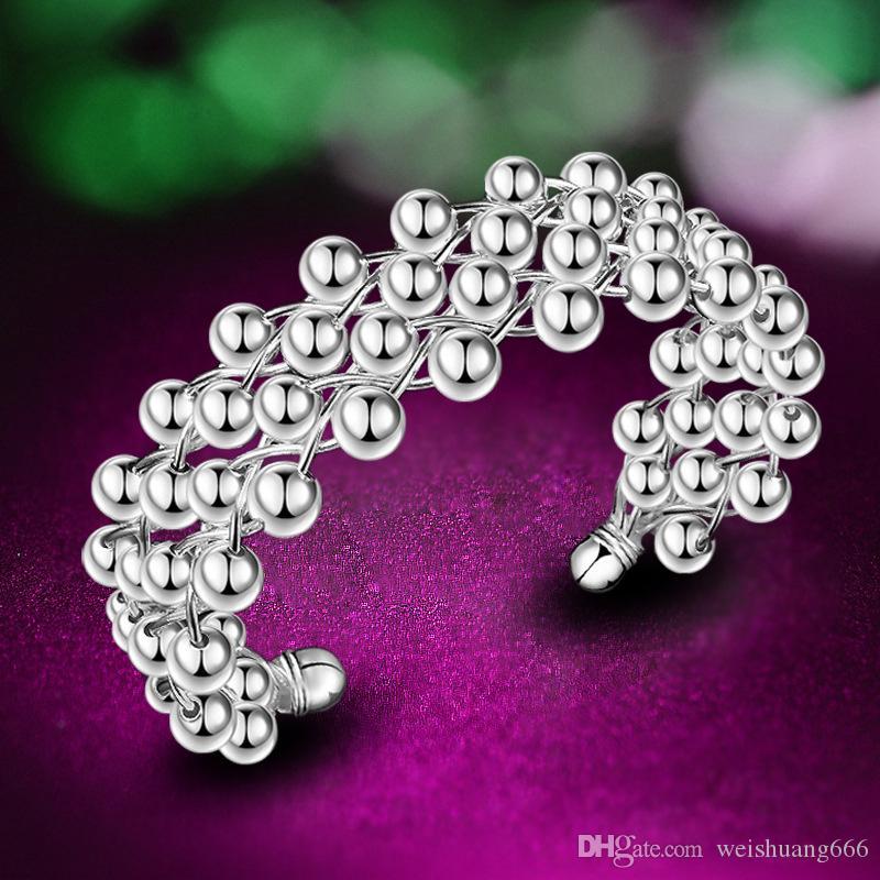 2019 new fashion trend designer grape beads bracelet Korea imported silver plated bracelet Korean and European jewelry