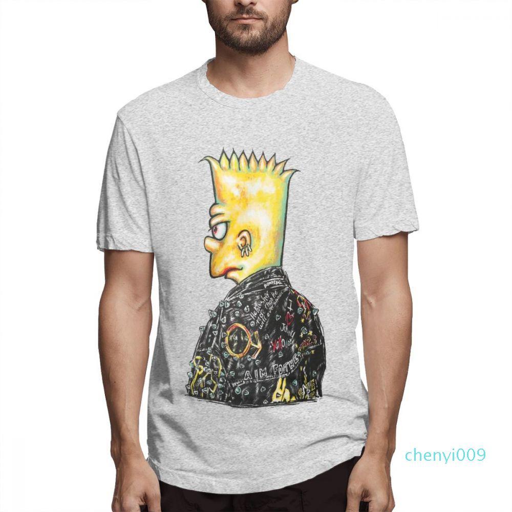 Moda Tasarımcısı Gömlek Hip Hop Kadın Gömlek Erkek Kısa Kollu Gömlek Simpsons Baskılı T Gömlek Casual Erkek Topsc2805c09